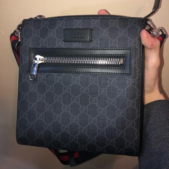 57938acf7551d0 Gucci Bags | Mens Supreme Small Messenger Crossbody Bag | Poshmark